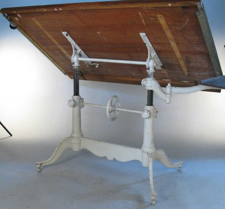 cast iron drafting table base 2