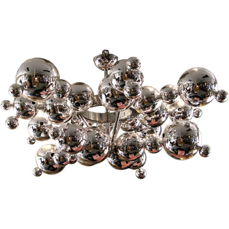 Bubble Chandelier in Glass by Luc Gensollen at 1stdibs