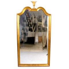Elegant Gold Leaf Mirror