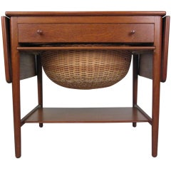 Hans Wegner Teak Sewing Table