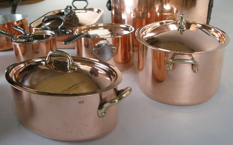 collection of antique french and english copper cookware at 1stdibs. Black Bedroom Furniture Sets. Home Design Ideas