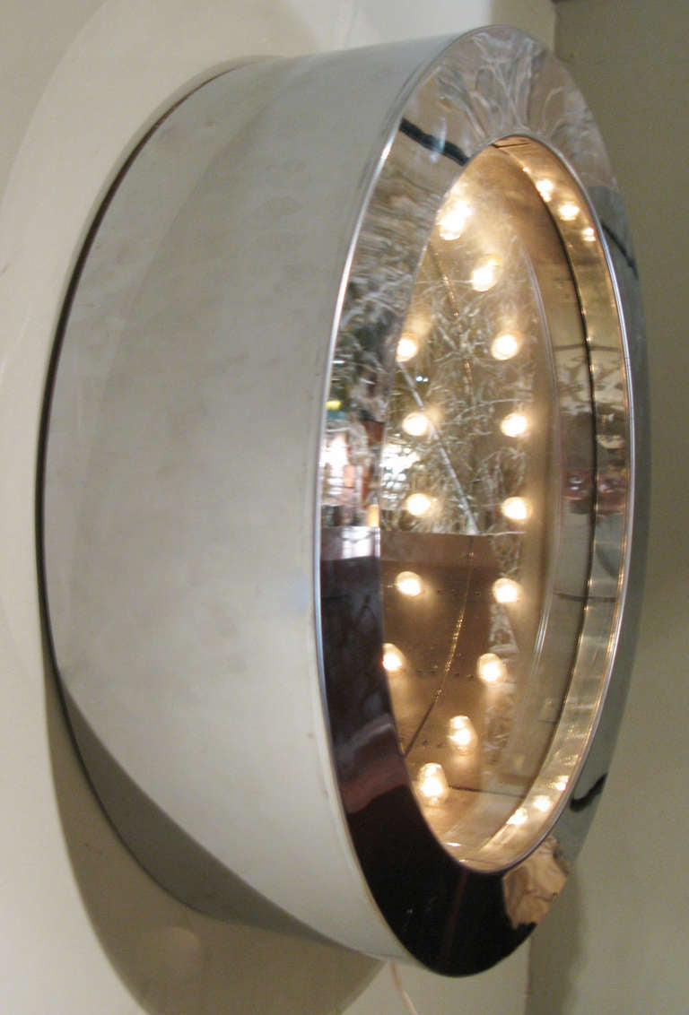 Modern Chrome Infinity Mirror By Curtis Jere At 1stdibs