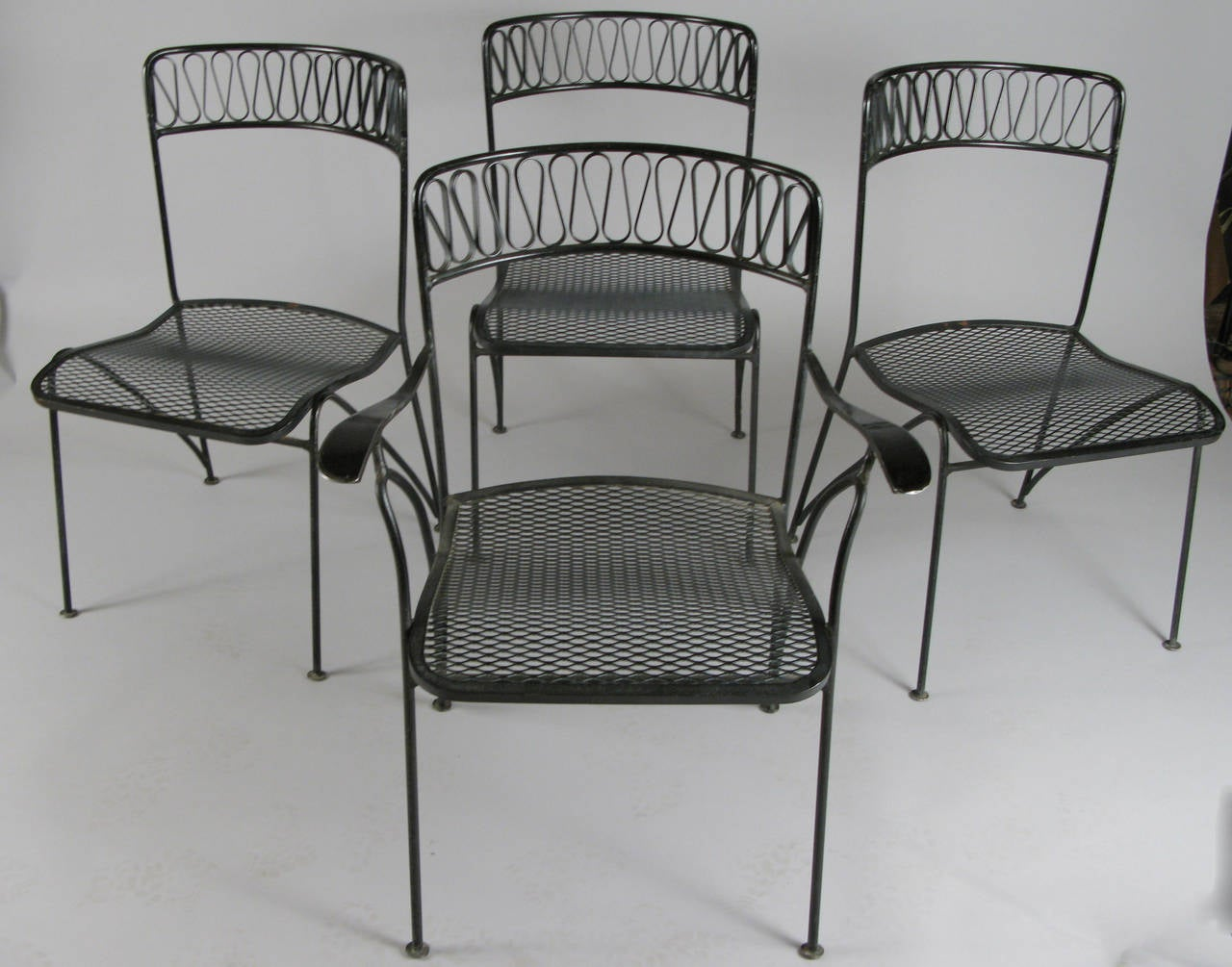 1950s Wrought Iron Dining Set By Tempestini For Salterini At 1stdibs