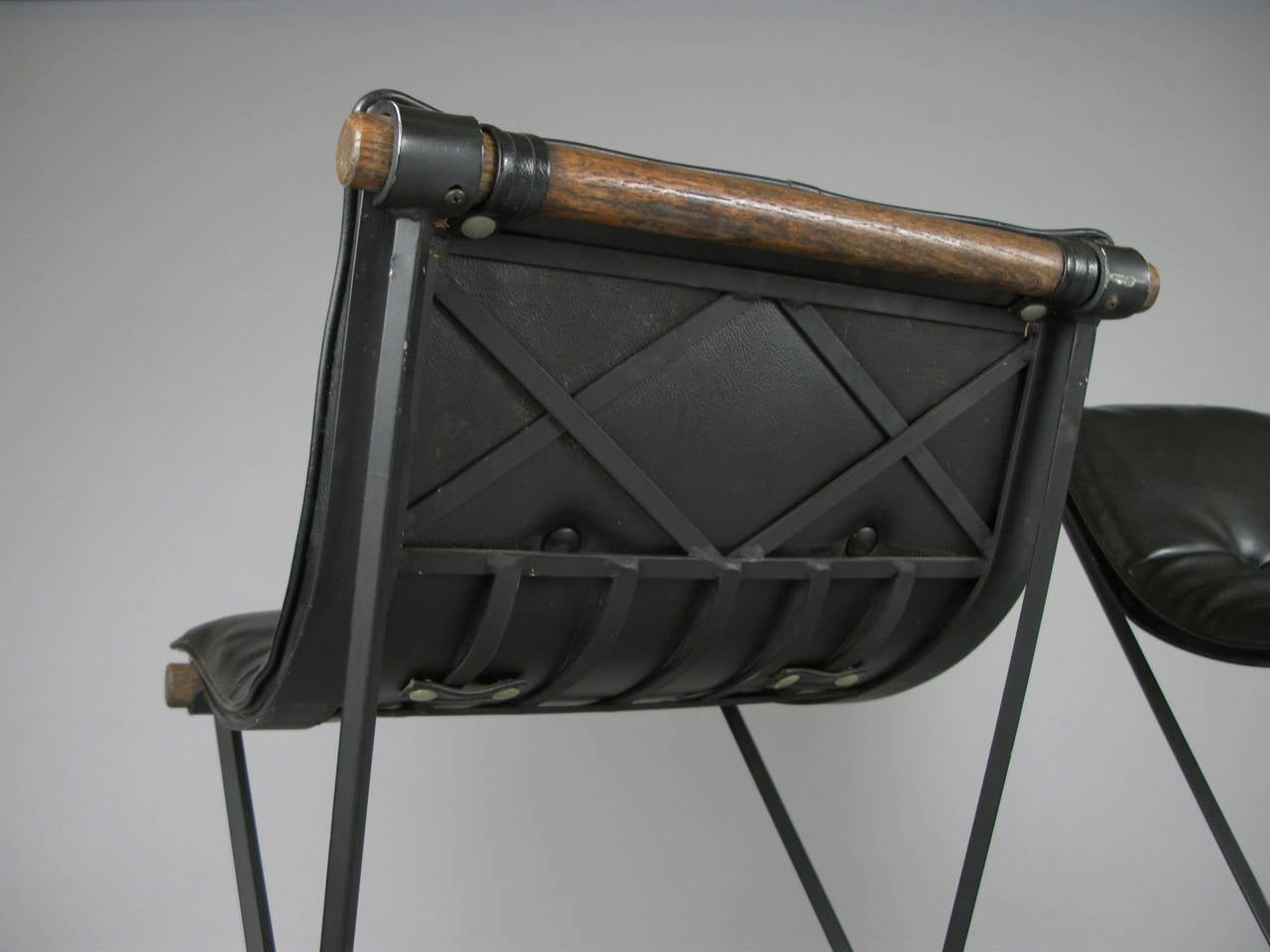 Pair of Iron Campaign Barstools by Cleo Baldon 2
