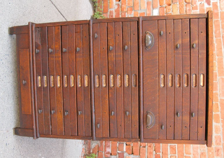 Antique Architects or Artists Flat File Cabinet 4