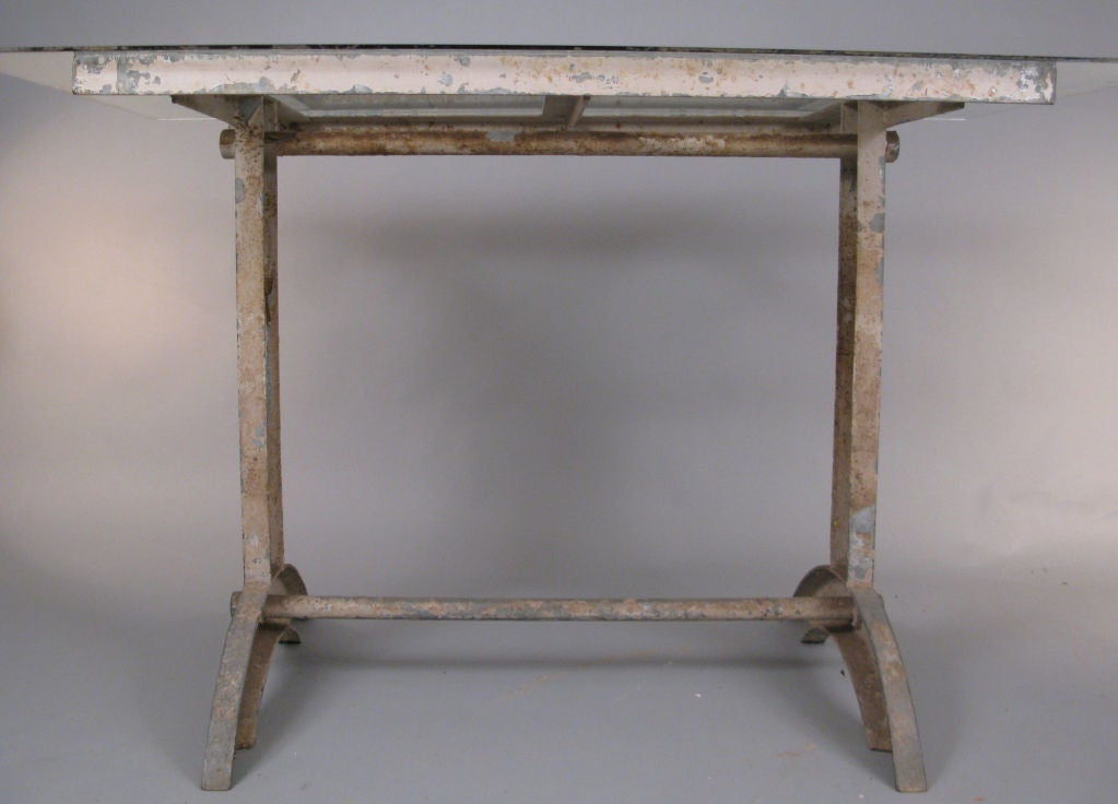 Antique Industrial Cast Iron Table 6