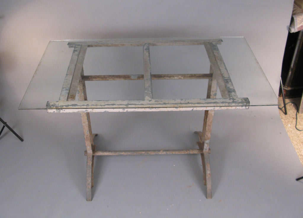 Antique Industrial Cast Iron Table 7