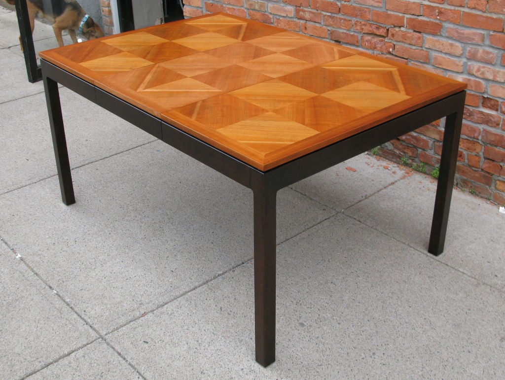 Vintage Walnut Parquet Extension Dining Table by Johnson  : 879113152329504 from www.1stdibs.com size 1024 x 771 jpeg 146kB