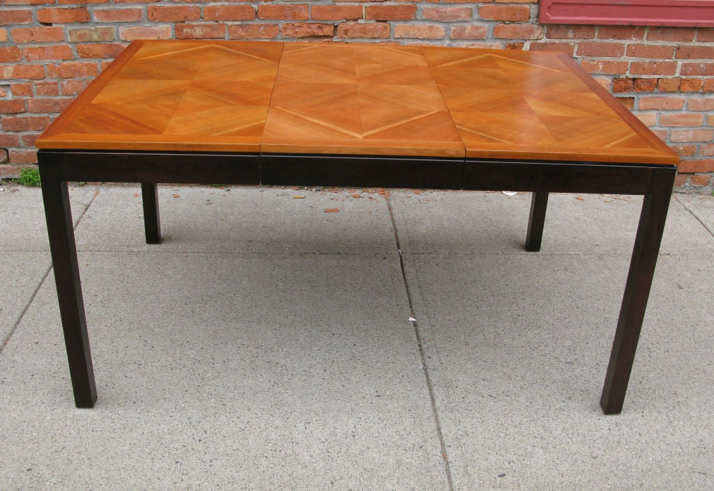 Vintage Walnut Parquet Extension Dining Table by Johnson  : 879113152329505 from 1stdibs.com size 1024 x 705 jpeg 175kB