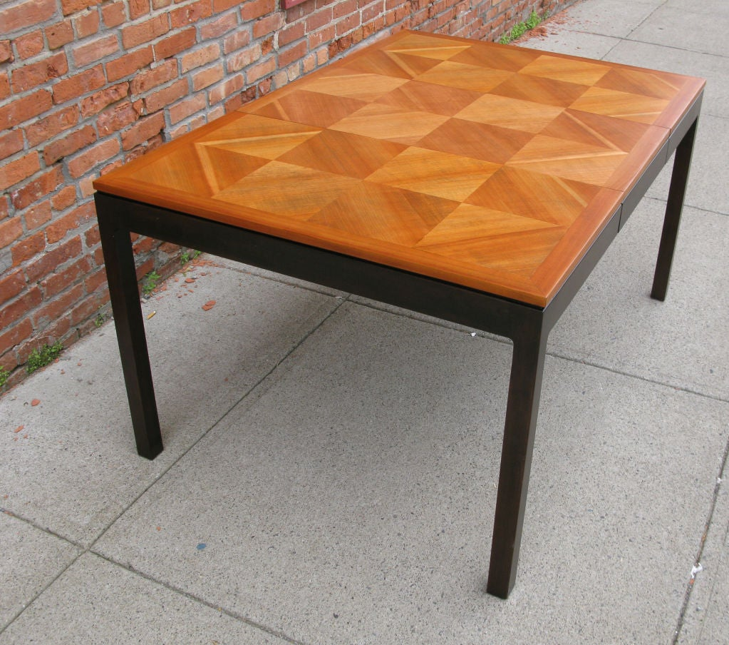 Vintage Walnut Parquet Extension Dining Table by Johnson  : 879113152329506 from 1stdibs.com size 1023 x 904 jpeg 227kB