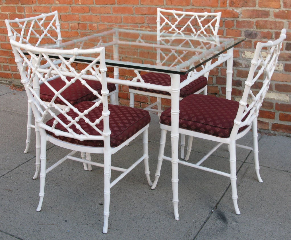Vintage Cast Iron Bamboo Dining Table and Chairs at 1stdibs : 879113164048222 from www.1stdibs.com size 1023 x 843 jpeg 179kB