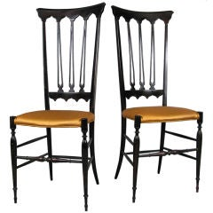 Pair of Elegant Italian High Back Chiavari Chairs