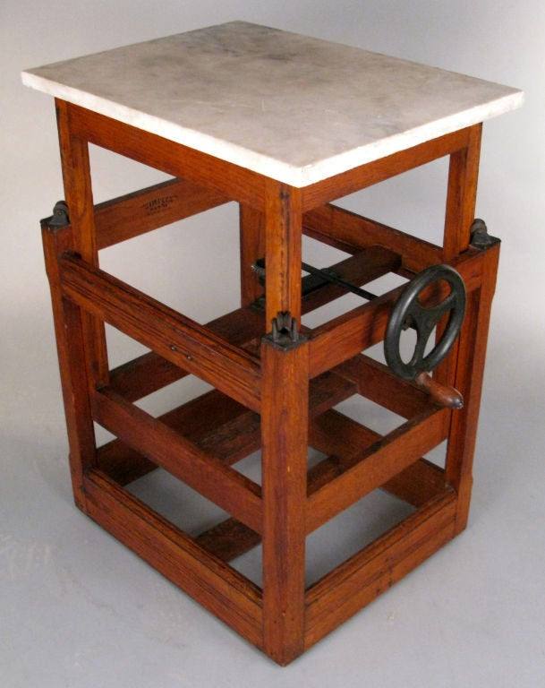 Antique Industrial Adjustable Printers Table At 1stdibs