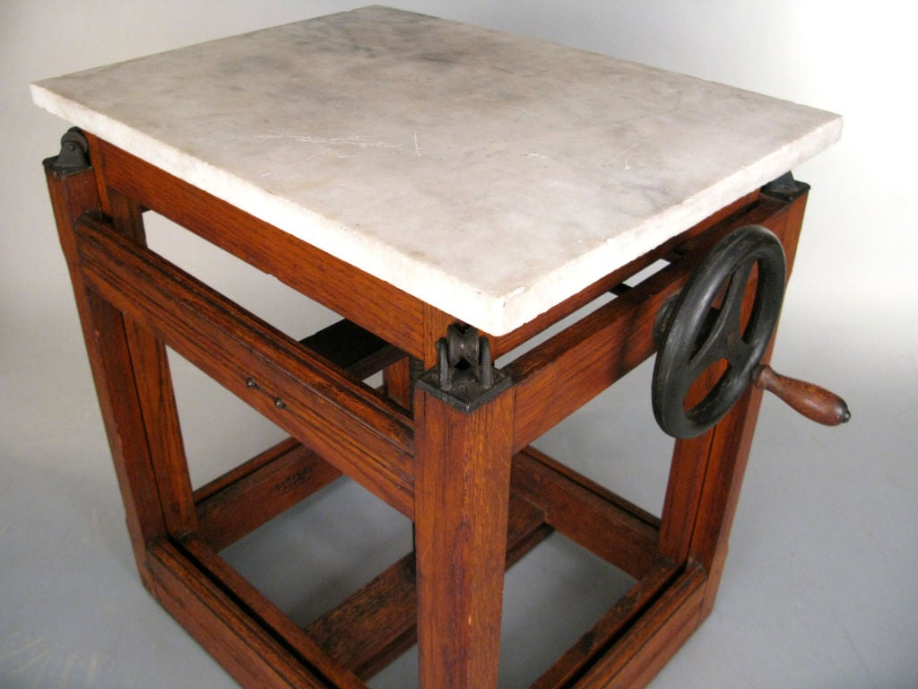 antique industrial adjustable printers table at 1stdibs. Black Bedroom Furniture Sets. Home Design Ideas