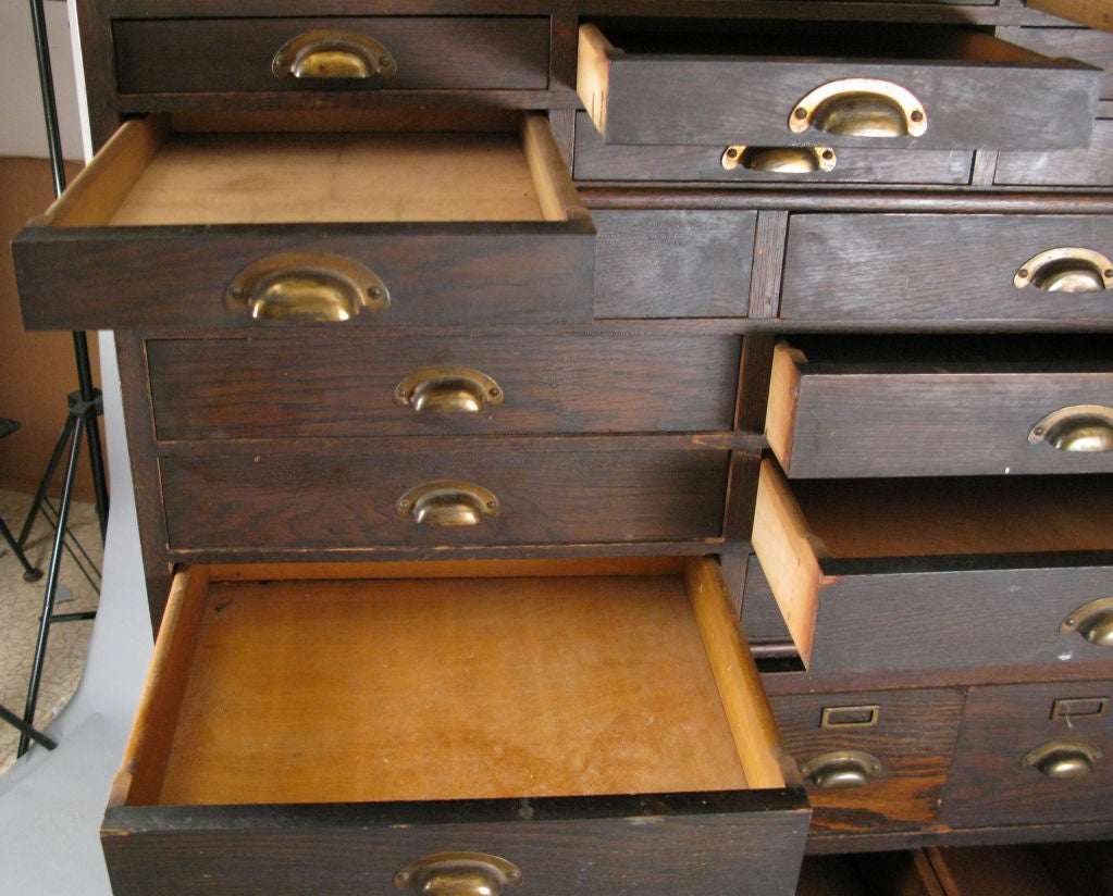 Antique Oak Stacking Apothecary Chest 5