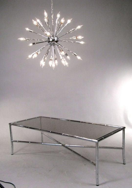 Classic Chrome 30 Light Sputnik Chandelier At 1stdibs