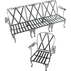 Vintage Woodard Garden Lounge Seating