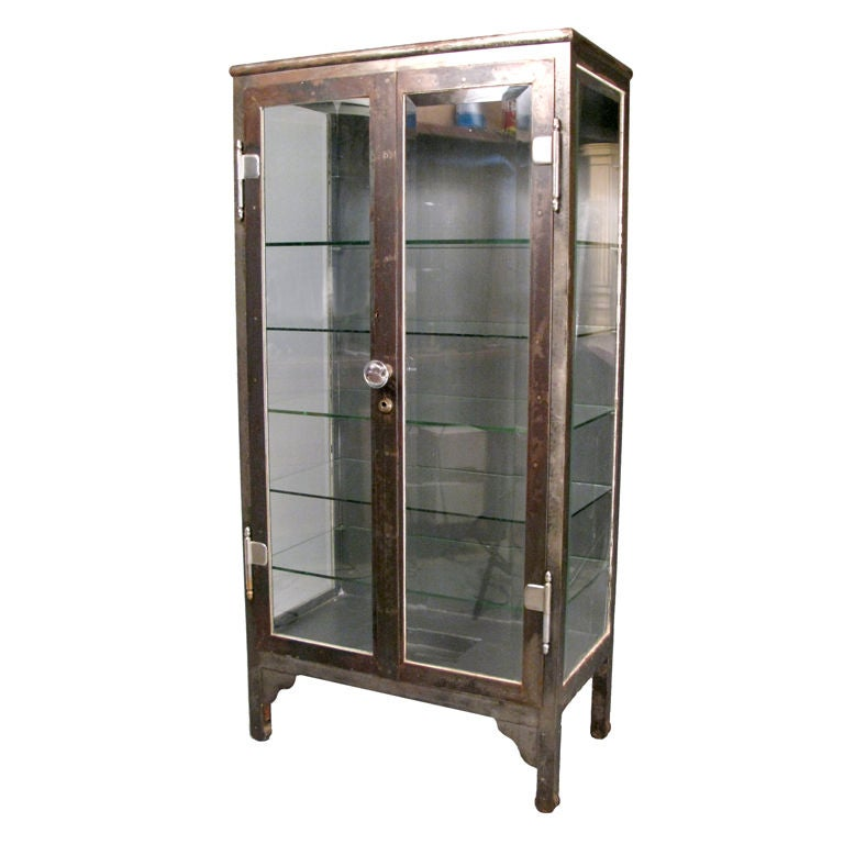 Apothecary Cabinet Delectable With Steel & Glass Antique Apothecary Cabinet Image