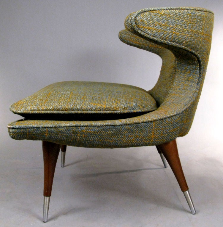 Mid-20th Century Modern Sculptural 'Horn' Lounge Chair by Karpen For Sale