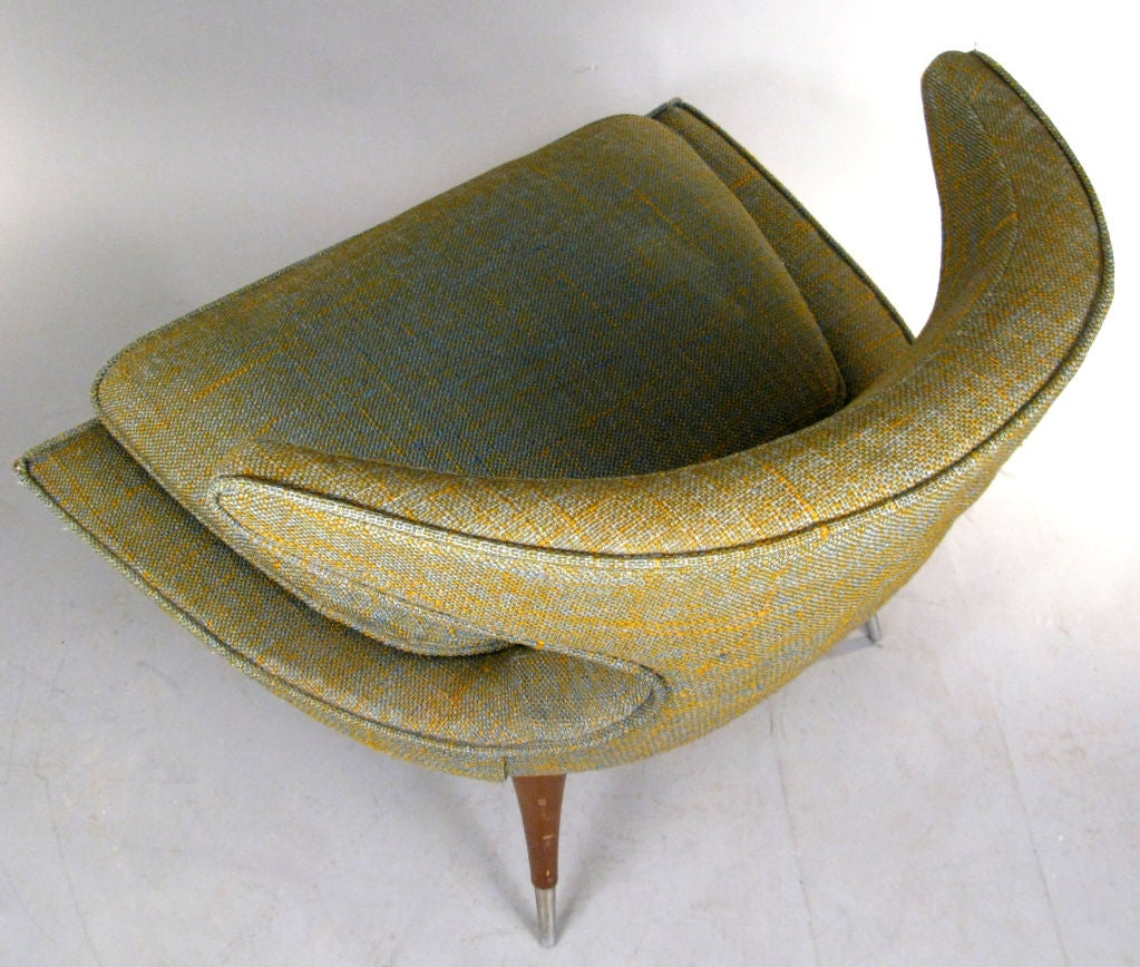Modern Sculptural 'Horn' Lounge Chair by Karpen For Sale 1