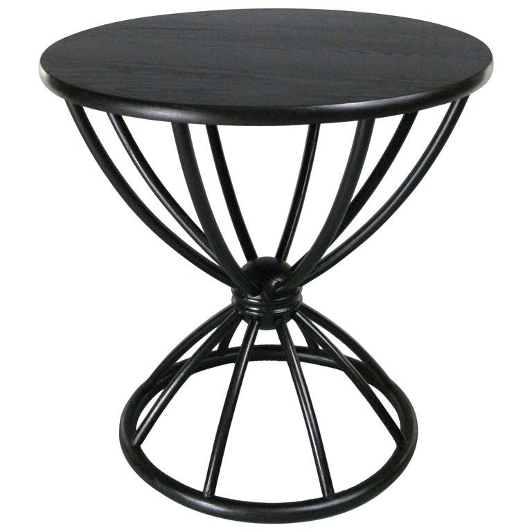 Mid Century Ebonized Bentwood Cocktail Table At 1stdibs