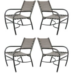 Set of Four Vintage Lounge Chairs by Walter Lamb