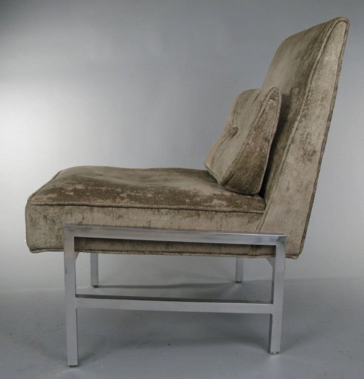 Pair Of Vintage Armless Slipper Lounge Chairs At 1stdibs