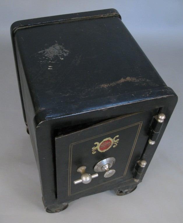 Antique Cast Iron Combination Safe 2