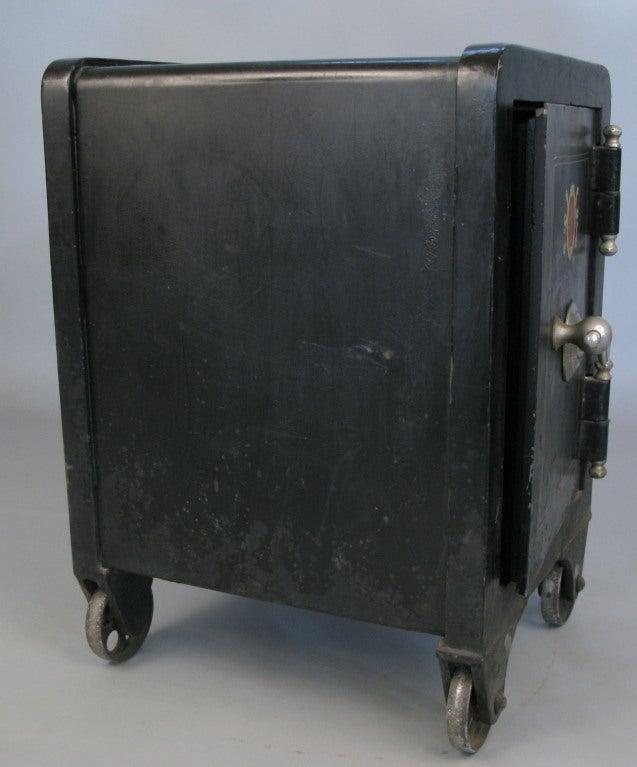 Antique Cast Iron Combination Safe 3