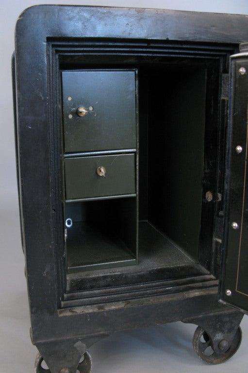 Antique Cast Iron Combination Safe 4