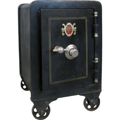 Antique Cast Iron Combination Safe