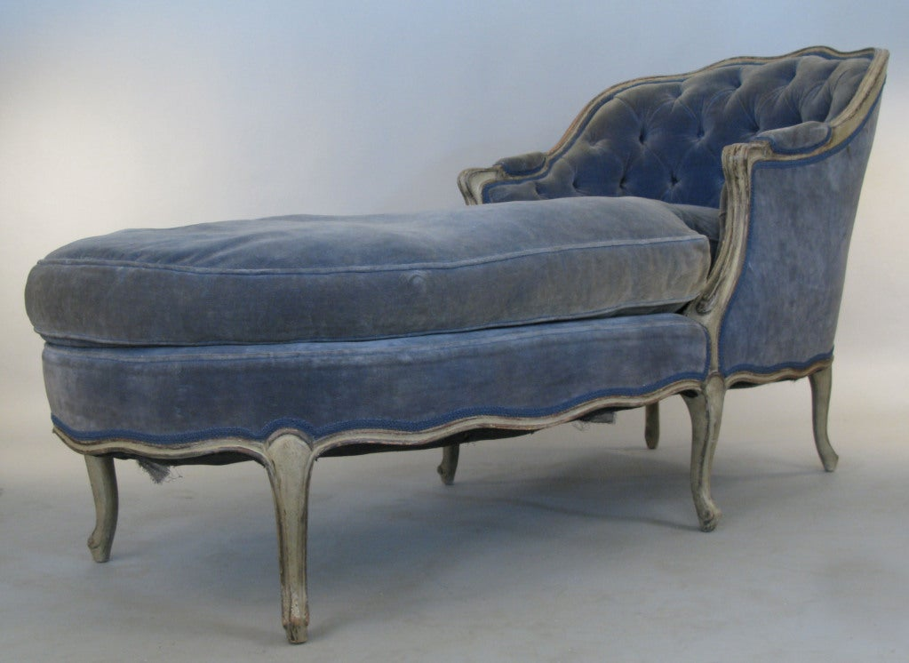 Vintage french chaise lounge quotes for Antique chaise longe