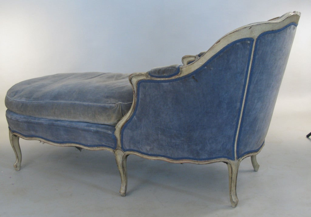 Antique french 1920 39 s down filled chaise lounge at 1stdibs for Antiques chaise lounge