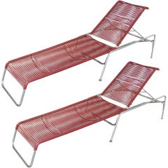Pair of Italian 1960s Chaise Lounges