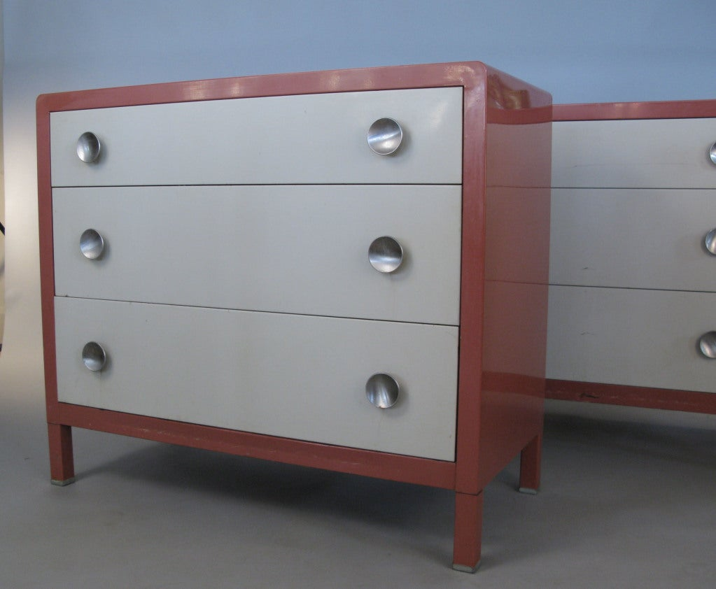 Pair Of Vintage Modern Chests By Norman Bel Geddes At 1stdibs