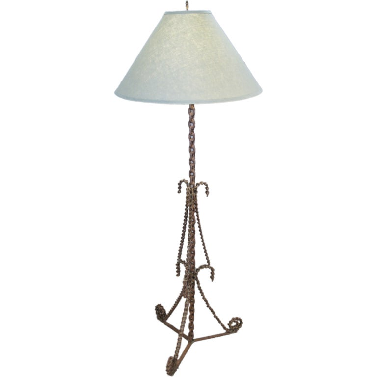 Craft Floor Lamps: Antique Arts And Crafts Handmade Chain Floor Lamp At 1stdibs