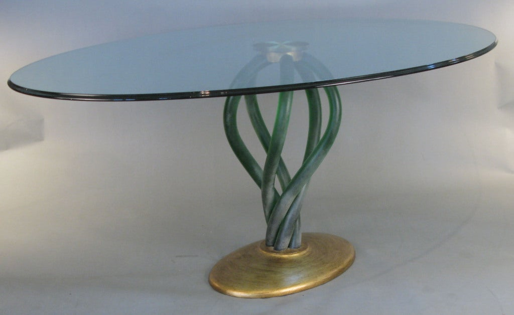 Stunning 39 Bolscioi 39 Italian Murano Glass Dining Table For Sale At 1stdibs