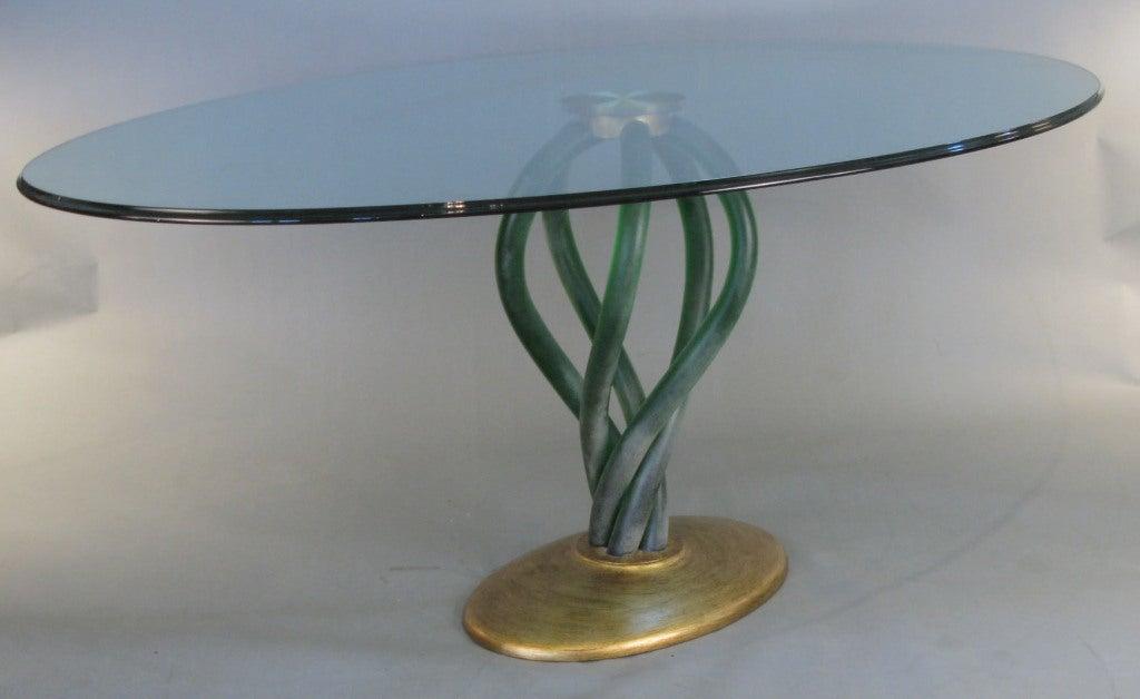 Stunning Bolscioi Italian Murano Glass Dining Table At