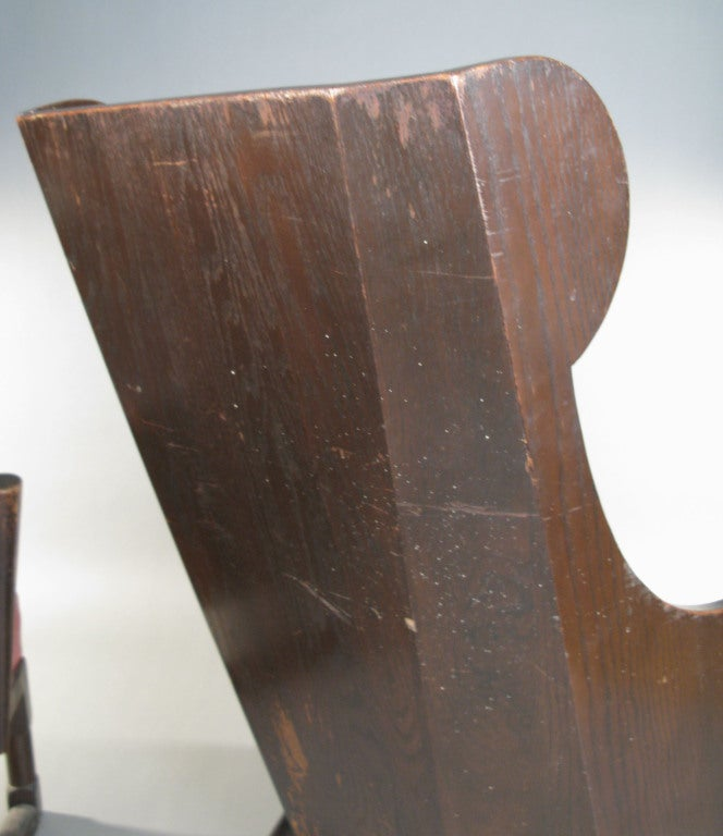 Antique Carved British Oak Chairs by Jamestown Lounge Co. For Sale 2