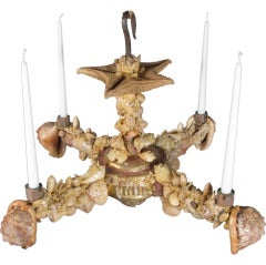 Charming 19th Century French Seashell Chandelier