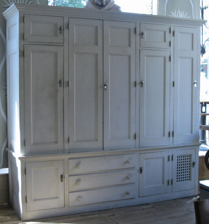 An Amazing Custom Designed Freestanding Closet Entirely Lined In Natural  Cedar, With 3 Sections Of. American Antique Custom Cedar Lined Freestanding  Armoire ...