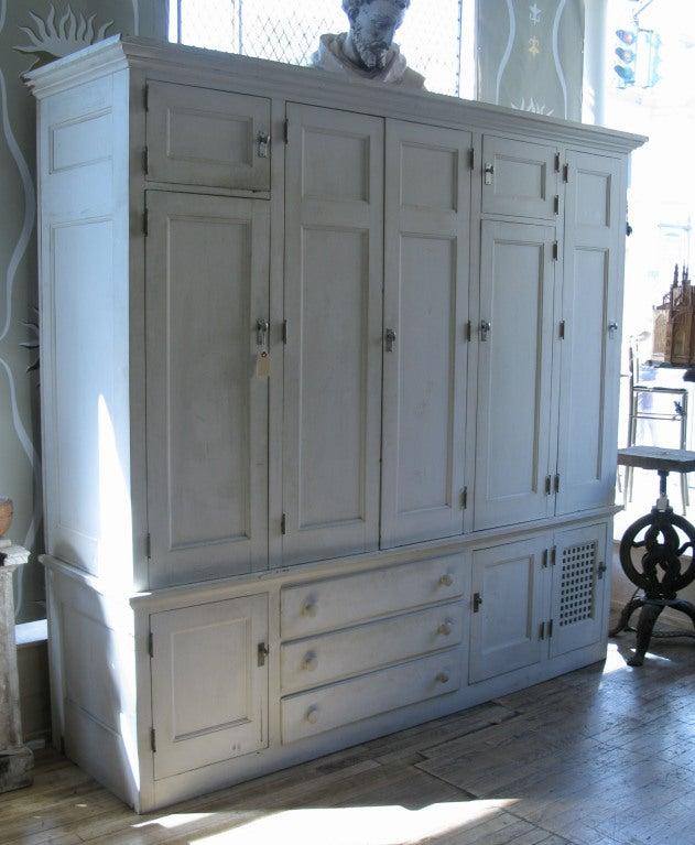 Antique Custom Cedar Lined Freestanding Armoire Closet at ...