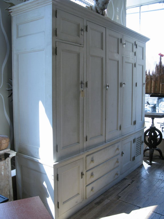 Antique Custom Cedar Lined Freestanding Armoire Closet at ...