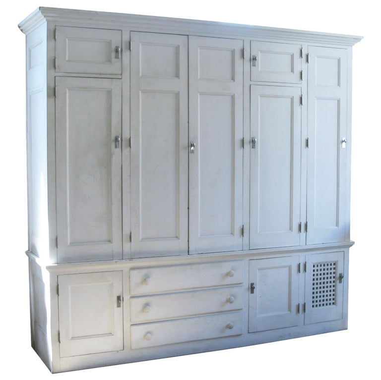 Antique custom cedar lined freestanding armoire closet at 1stdibs