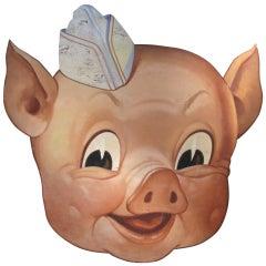 Vintage Piggly Wiggly Trade Sign