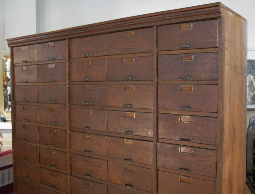 antique industrial 50 drawer apothecary cabinet at 1stdibs