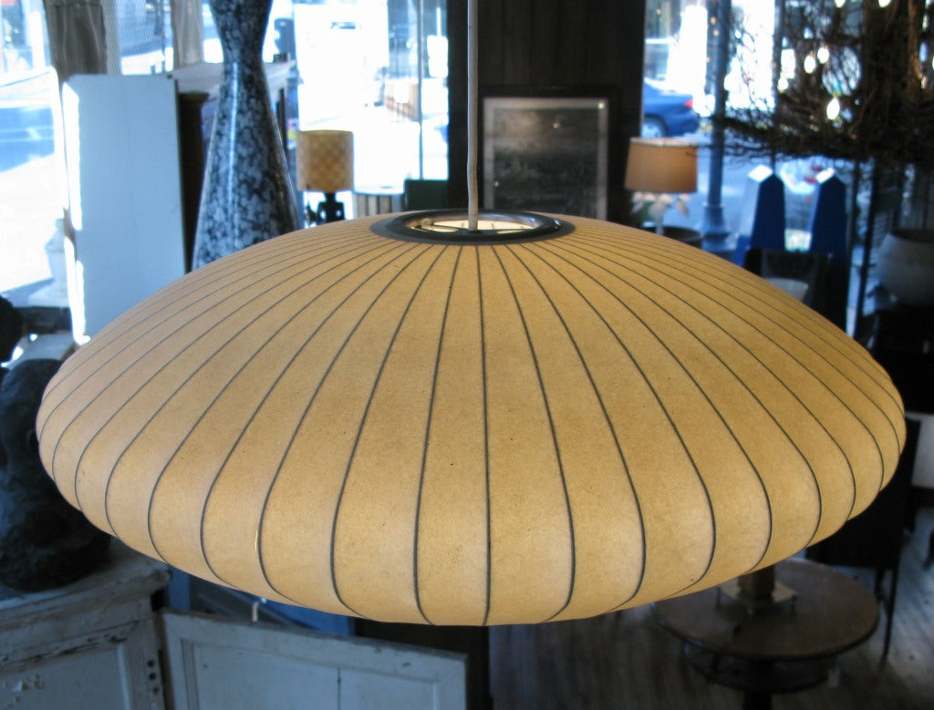 Vintage George Nelson Oval Bubble Lamp 3