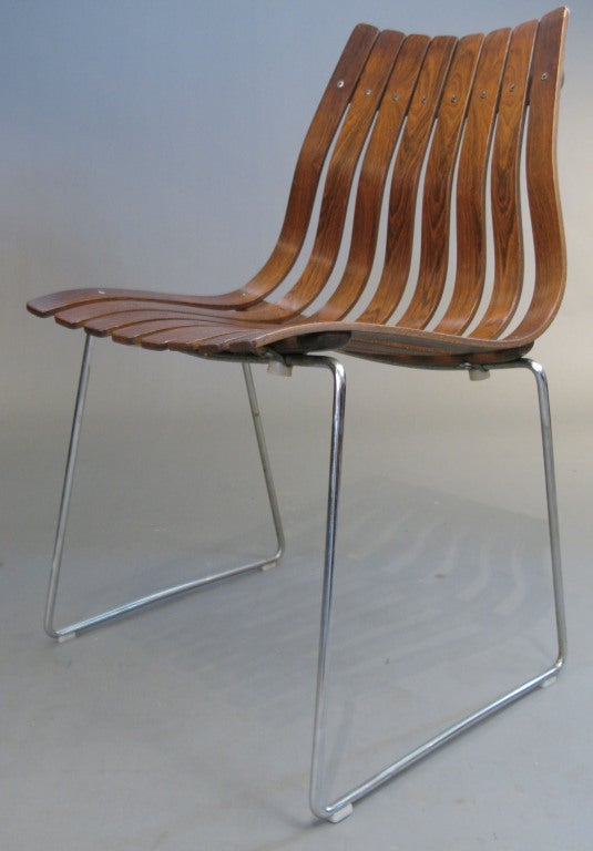 Set Of Four Rosewood Scandia Chairs By Hans Brattrud At 1stdibs