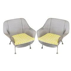 Pair of Vintage 'Sculptura' Lounge Chairs by Woodard