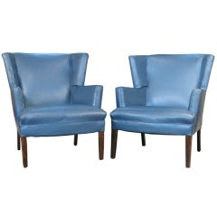 Pair of Mid-Century Wing Chairs
